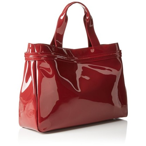 Armani Jeans Eco Patent Leather East West Logo Tote cd22d2adfb15b